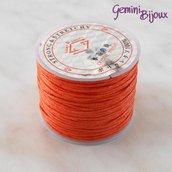 Lotto 1 mt cordino cotone cerato arancio 1 mm