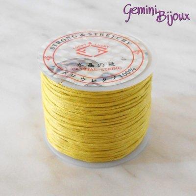 Lotto 1 mt cordino cotone cerato giallo 1 mm