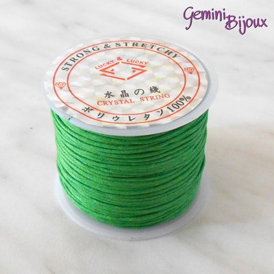 Lotto 1 mt cordino cotone cerato verde 1 mm