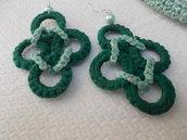 orecchini forma rombo