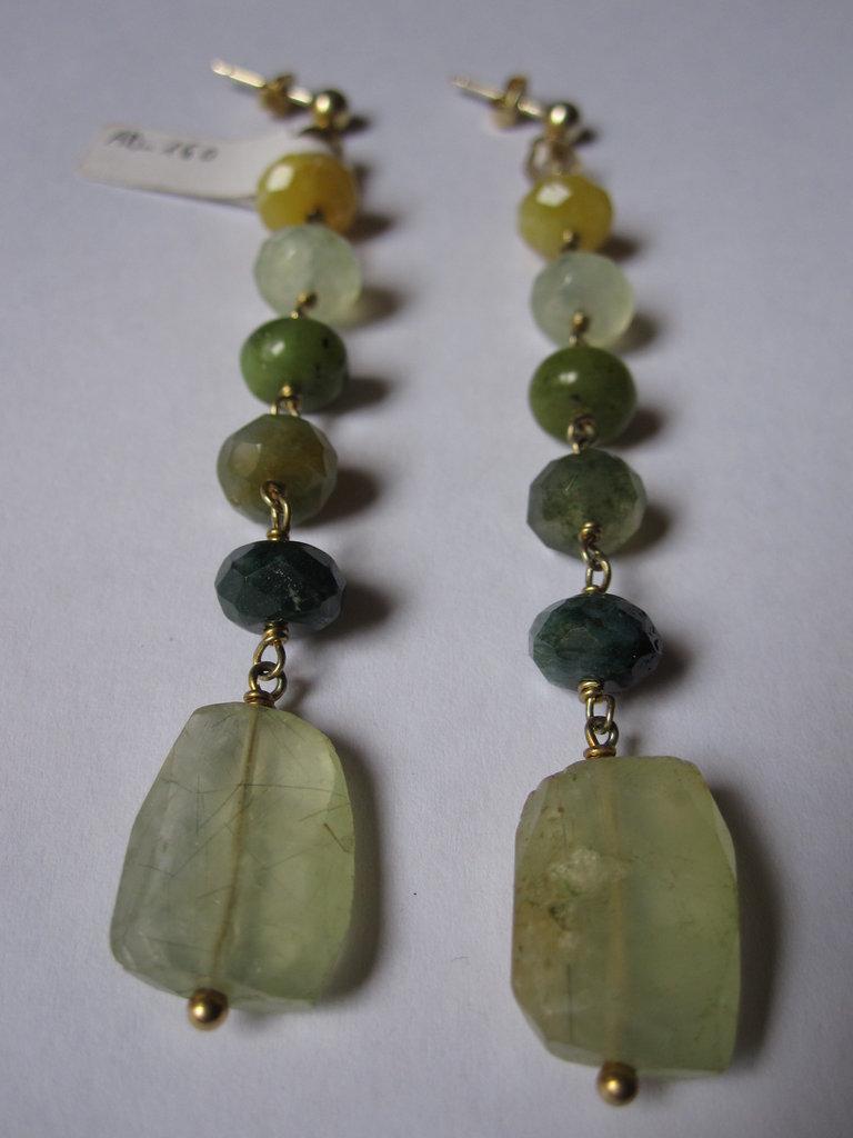 Orecchini in argento dorato e pietre dure gioielli for Orecchini con pietre dure fai da te