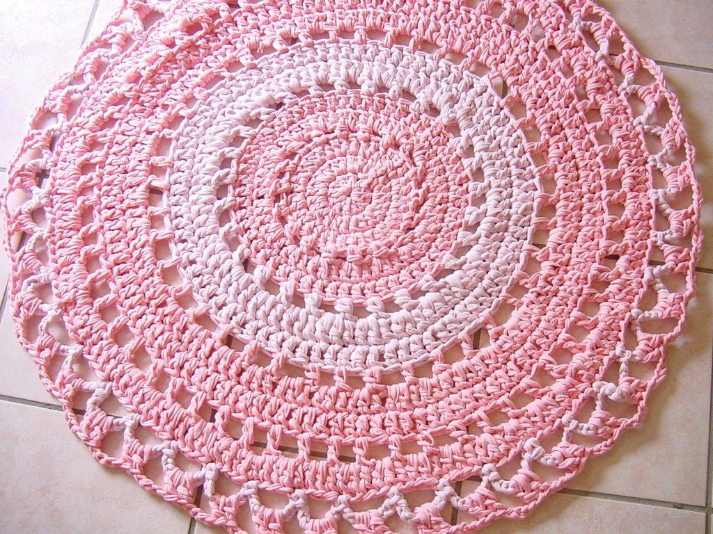 Tappeto Fettuccia Uncinetto Rosa Per La Casa E Per Te Decorare