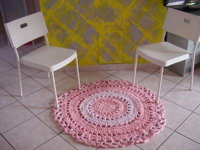 Tappeto Uncinetto: Uncinetto crochet tappeto labirinto parte.