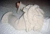 Pantaloncini con volant - pattern a maglia