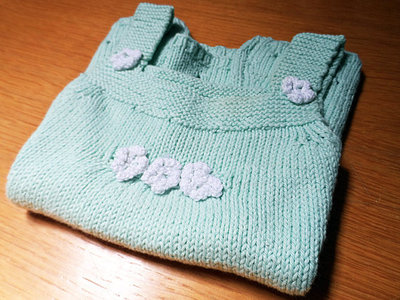 Scamiciata fiorata - schema a maglia