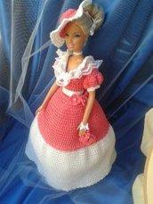 Barbie con abito a uncinetto
