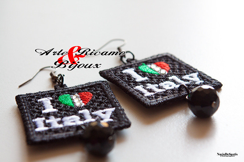 Love Italy orecchini in pizzo by arte Ricamo & Bijoux