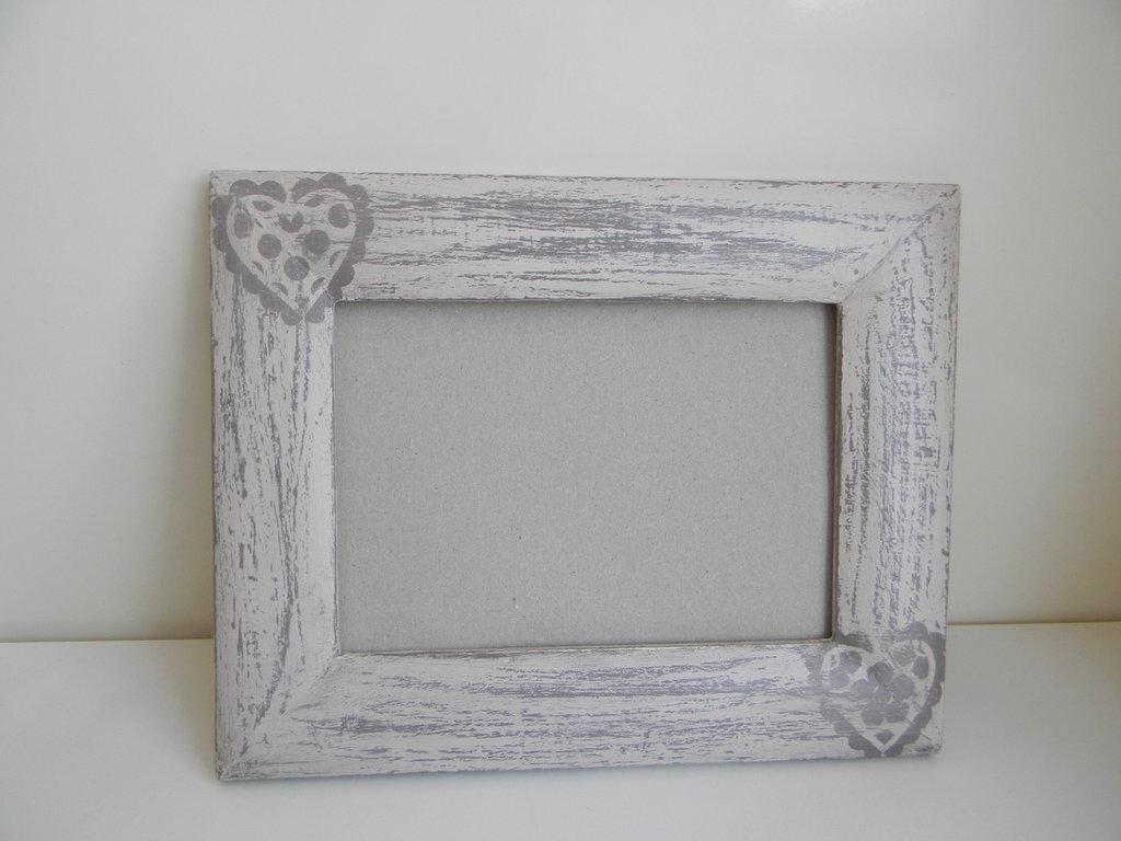 Cornice shabby in legno per la casa e per te decorare for Cornice foto legno