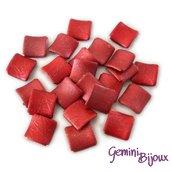 Perla grande quadrata in acrilico 29x29 rosso