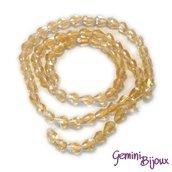 Lotto 10 perle in vetro gocce sfaccettate 9x5 champagne