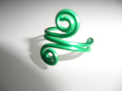 Anello Piede Color Verde