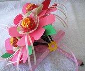 Bouquet di lecca lecca per bambina - Idea regalo compleanno/Comunione
