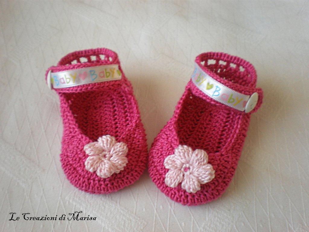 Estremamente scarpine estive neonato all'uncinetto - Bambini - Abbigliamento  ZH44