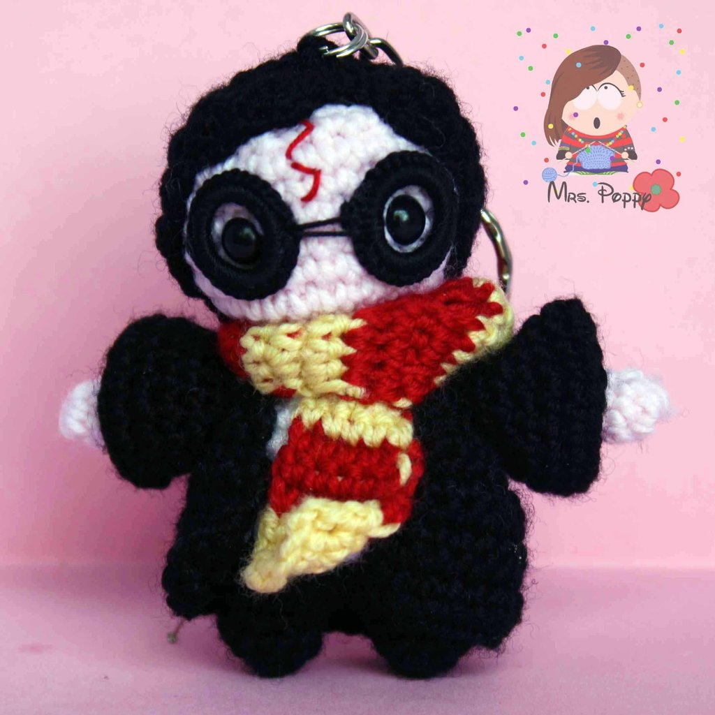 Portachiavi uncinetto amigurumi Harry Potter