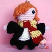 Portachiavi uncinetto amigurumi Ron Weasley