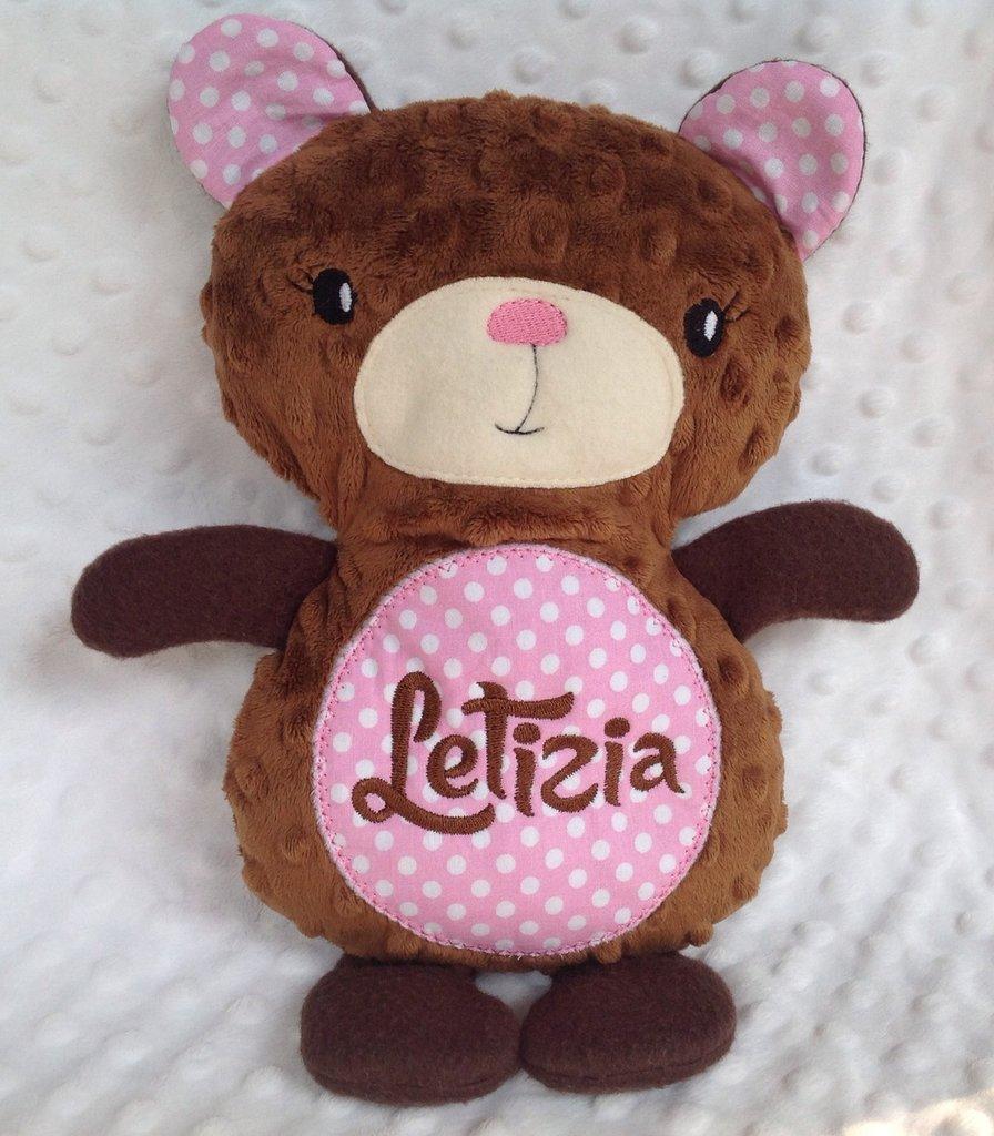 Orsetto personalizzato - peluche pupazzo orso marrone