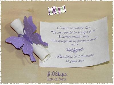 Segnaposto Farfalla con pergamena