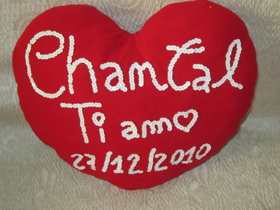 Cuscino Love personalizzato con i nomi