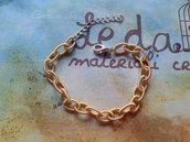 Base bracciale catena di seta oro