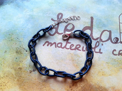 Base bracciale catena di seta blu