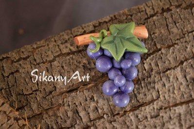 Grappolo d'uva in pasta polimerica