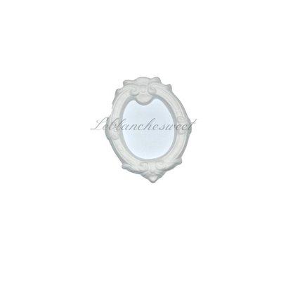 Cornice barocca,ovale piccolo gesso profumato