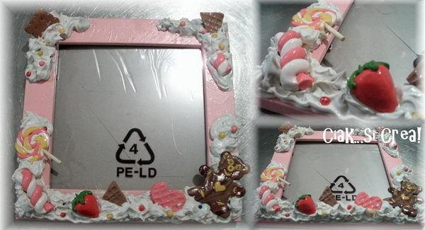 Cornice portafoto decorata