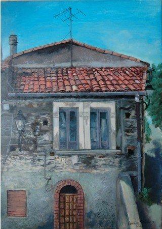 Prospetto casa centro storico Colosimi-BENIAMINO COSENTINO