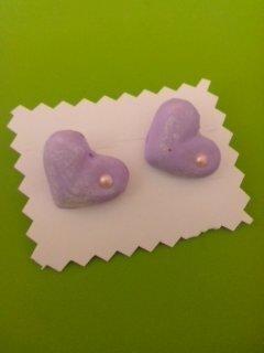orecchini  cuore effect perno