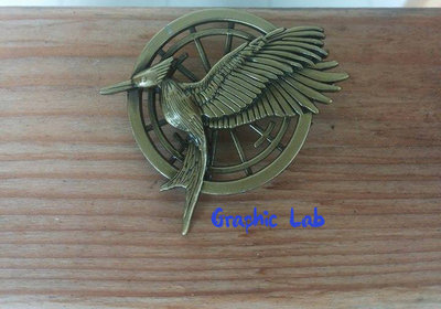 Spilla Hunger Games Catching Fire in Bronzo
