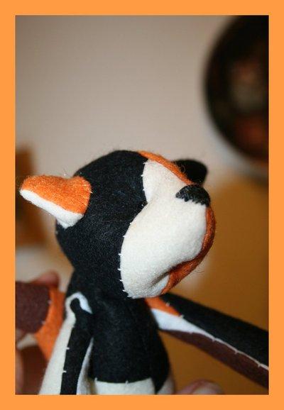 Gattina in tessuto design Tilda interamente fatta a mano