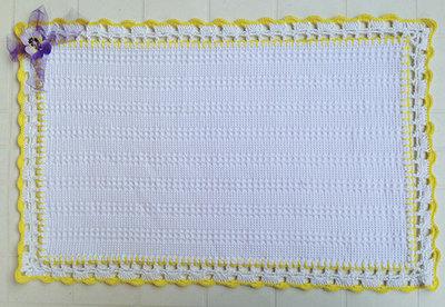 Tovaglietta Allamericana In Cotone Nido Dape E Bordo Crochet P