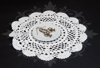 SALDI OFFERTA! orecchini pendenti ottone/bronzo con simpatici ventilatori - key antique bronze pin up rockabilly goth lolita kawaii retro