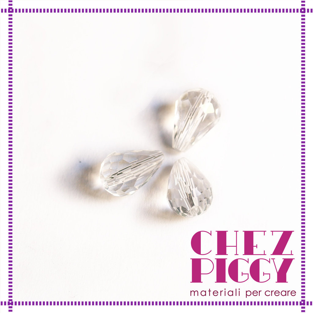 1 x Perla a goccia - TRASPARENTE