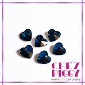 1 x pendente di cristallo - Cuore BLU