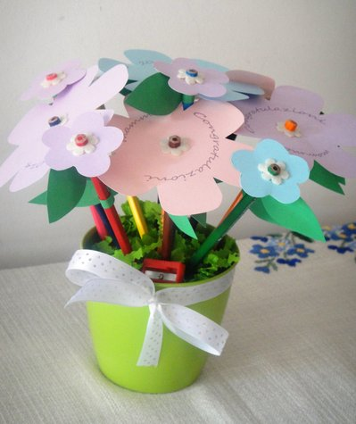 Bouquet di matite colorate - Idea regalo scuola