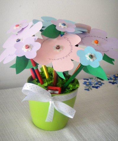 Bouquet di matite colorate - Idea regalo scuola