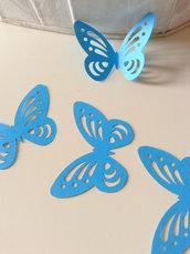 Farfalle AZZURRE cartoncino