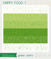 DIGITALPAPER A4 / CARTA DIGITALE Happy food 1 - green colors
