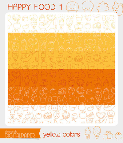 DIGITALPAPER A4 / CARTA DIGITALE Happy food 1 - yellow colors