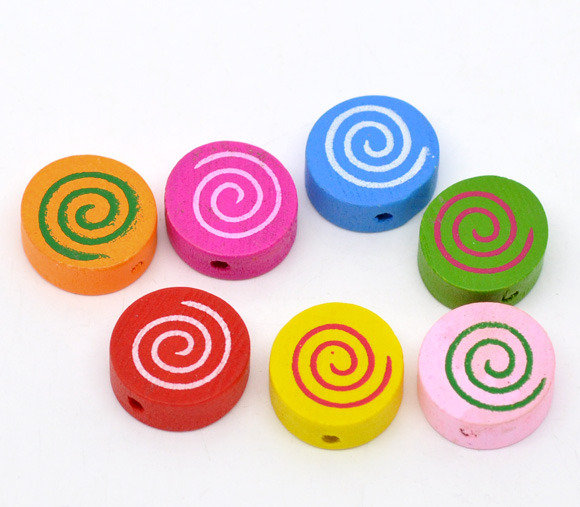 10 mix perle  a coppiecon spirale 16x16 mm