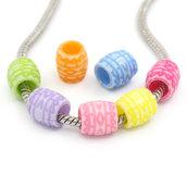 10 perle bauletto foro largo in acrilico 10 mm  scontato solo per oggi poi ripristino