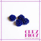 1 x perla a forma di rosa in resina - BLU