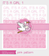 DIGITALPAPER A4 / CARTA DIGITALE - It's a Girl 1