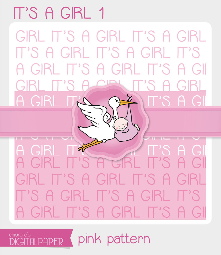 DIGITALPAPER A4 / CARTA DIGITALE - It's a Girl 1