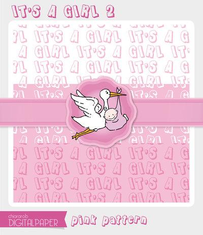 DIGITALPAPER A4 / CARTA DIGITALE - It's a Girl 2