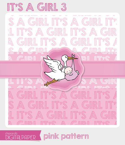 DIGITALPAPER A4 / CARTA DIGITALE - It's a Girl 3
