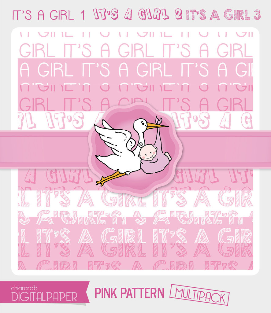 DIGITALPAPER A4 / CARTA DIGITALE - It's a Girl MULTIPACK
