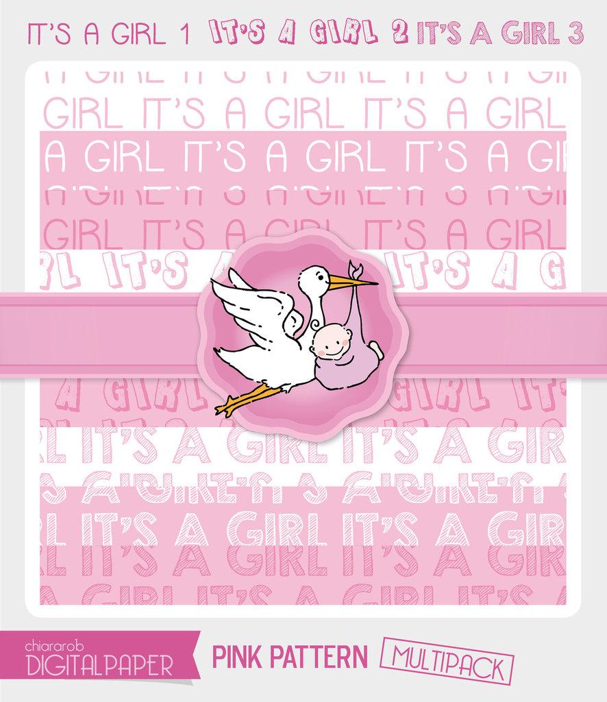 DIGITALPAPER A4 / CARTA DIGITALE - It's a Girl MULTIPACK