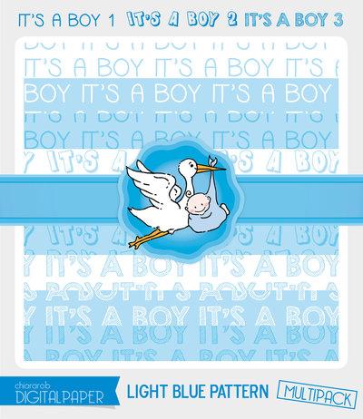 DIGITALPAPER A4 / CARTA DIGITALE - It's a Boy MULTIPACK